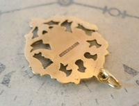 Antique Pocket Watch Chain Fob 1890s Victorian 12ct Rose Gold Filled Shield Fob (6 of 6)