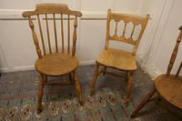 Collection of 3 Stripped Beech & Elm Country Windsor Chairs (7 of 12)
