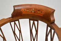 Antique Edwardian  Inlaid Mahogany Corner Chair (3 of 11)
