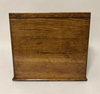 Antique Oak Desktop Stationery Cabinet with Calendar (6 of 12)
