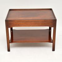 Pair of Georgian Style Mahogany Side Table c.1950s (6 of 12)