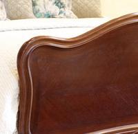 Understated Louis XV Dark Walnut Antique Bed (3 of 6)