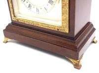 Impressive Mahogany Edwardian Bracket Clock Timepiece Mantel Clock (5 of 8)