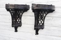Aesthetic Movement, pierce-work corner shelves with galleries (a pair) c.1880 (30 of 35)
