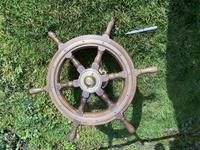 Oak & Brass Ships Wheel (8 of 11)