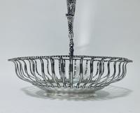 Antique Georgian 18th Century Solid Silver Swing Handle Bread Basket 1774 (11 of 19)