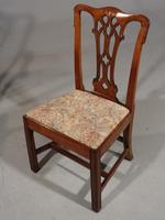 Attractive Early 20th Century Set of 7 '6+1' Chippendale Style Mahogany Framed Chairs (4 of 7)