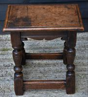 Lovely 19th Century Oak Joint Stool c.1800-1850 (4 of 10)