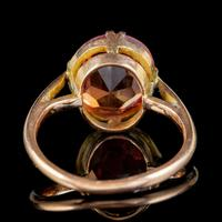 Antique Victorian 4.5ct Mexican Fire Opal Ring 9ct Gold Circa 1900 (4 of 6)