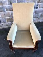 Antique Mahogany Library Armchair (8 of 10)