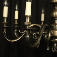 French Silver Plated 8 Light Mid 20th Century Chandelier (3 of 10)