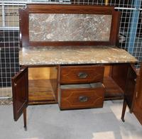 1940s Marble Top & Back Mahogany Washstand (2 of 3)