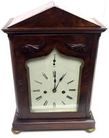 Unusual & Rare Mahogany Bracket Clock Taj Mahal Bezel & Dial Mantel Clock (5 of 10)