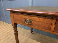 Victorian Mahogany Two Drawer Writing Table (5 of 11)
