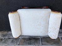 Antique Carved Walnut X Frame Stool (5 of 9)