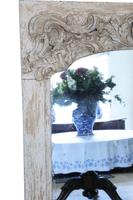 19th Century Large Quality Painted Chateau Overmantle / Wall Mirror (7 of 8)