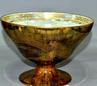 Wedgwood Dragon & Butterfly Lustre Ogee Shaped Pedestal Bowl (6 of 9)
