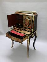 French 19th Century Louis XV Style Boulle Writing Cabinet (3 of 11)