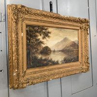 Antique Landscape Oil Painting of Scottish Loch (3 of 9)