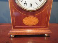Superb Antique Sheraton Inlaid Mantel Clock (3 of 6)