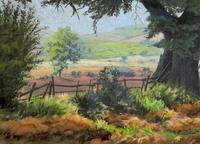 'Lincolnshire Summer' - Fine Mid Century English Landscape Watercolour Painting (6 of 11)