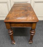 Fine Rare Burr Walnut Writing Table or Desk (16 of 20)