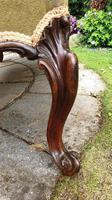 Rare Large 19th Century Rosewood Centre Stool (6 of 7)