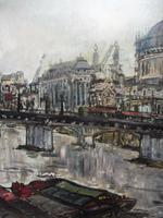 Large Oil on Board The Thames Listed Artist Sheila Appleton (3 of 12)