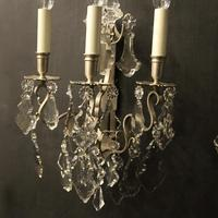 French Pair of Silver Gilded Wall Sconces (3 of 10)