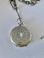 Pretty Silver Ladies Fob Watch & Fob c.1890 (8 of 9)