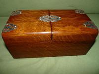Solid Figured Oak Games Box + Accessories c.1890 (8 of 18)