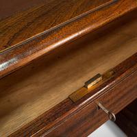 Antique Partner's Desk, English, Mahogany, Leather, Writing Table, Edwardian (10 of 12)