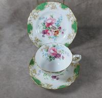 Crown Staffordshire, Fine Bone China Trio, Pattern No F15971 (6 of 9)