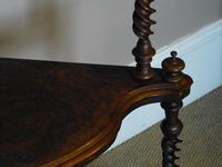 A Victorian figured walnut corner whatnot (3 of 5)
