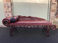 Antique Oriental Chinese Opium Day Bed