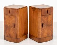 Pretty Pair of Walnut Art Deco Bedside Cabinets (5 of 7)