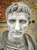 Large Composite Stone Statue On Column - Julius Cesar (6 of 11)
