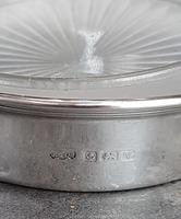 Sterling Silver & Frosted Glass Butter Dish (3 of 4)