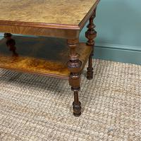 Small Figured Walnut Victorian Antique Coffee Table (5 of 5)