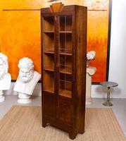 Art Deco Oak Glazed Bookcase (7 of 11)