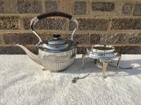 Edwardian Silver Plated Spirit Kettle (3 of 4)