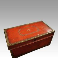Regency Red Leather Camphorwood Trunk (3 of 8)