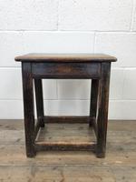 Antique 18th Century Oak Stool (5 of 10)