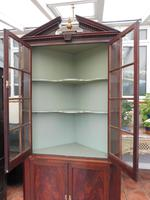 Mahogany Flame Astral Glazed Corner Cupboard 1780 (6 of 10)