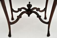 Antique Victorian Carved Mahogany Occasional Table (4 of 7)