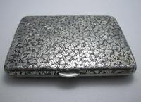 Quality Victorian 1894 Solid Sterling Silver & Leather Aide Memoire Card Note Stamp Case Purse Wallet. English Hallmarked (4 of 12)