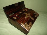 QUALITY Betjemann Coromandel Writing Box. 100% Original c1870 (2 of 15)