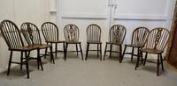 Collection of 8 Beech & Elm Country Windsor Chairs (11 of 12)