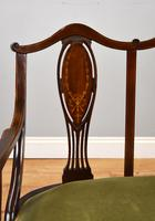 Victorian Mahogany & Inlaid Lounge Suite (4 of 23)