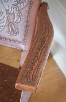 Peruvian Tooled Saddle Leather Folding Armchair (3 of 13)